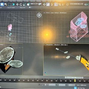 Création Graphique 3D carte noire